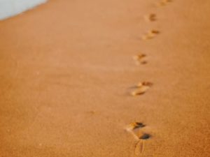 Consciously Living - Your NZ Wellness Directory - footsteps on beach